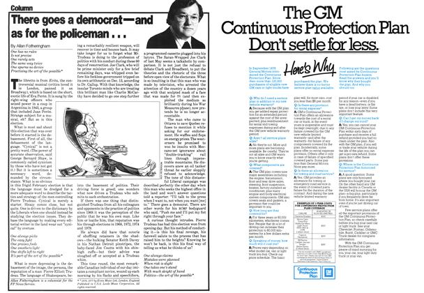 Article Preview: There goes a democrat—and as for the policeman..., February 1980 | Maclean's