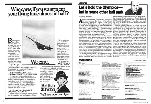 Article Preview: Let's hold the Olympics— but in some other ball park, February 1980 | Maclean's