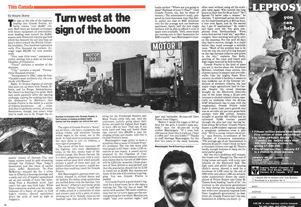 Article Preview: Turn west at the sign of the boom, February 1980 | Maclean's