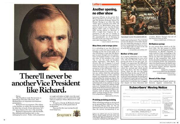 Article Preview: Another opening, no other show, February 1980 | Maclean's
