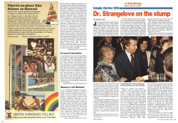 Article Preview: Dr. Strangelove on the stump, February 1980 | Maclean's