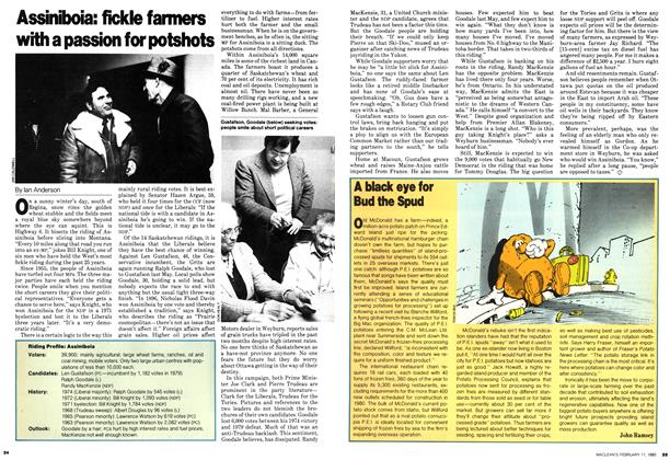 Article Preview: Assiniboia: fickle farmers with a passion for potshots, February 1980 | Maclean's