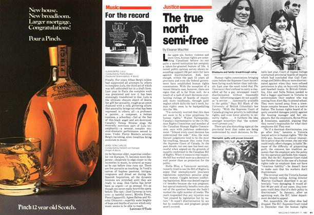 Article Preview: The true north semi-free, February 1980 | Maclean's