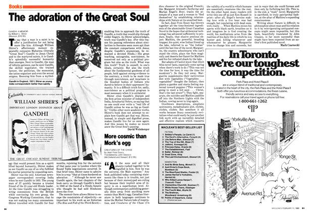 Article Preview: The adoration of the Great Soul, February 1980 | Maclean's