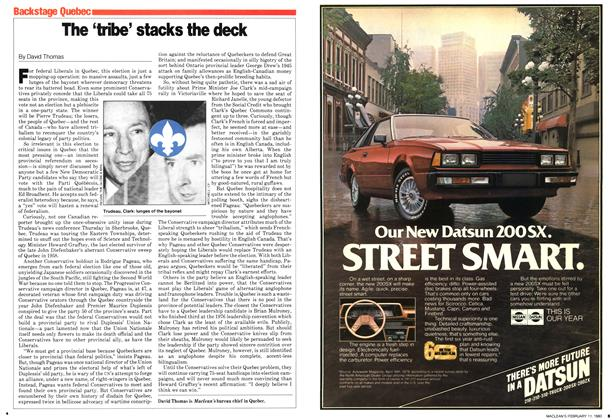 Article Preview: The 'tribe' stacks the deck, February 1980 | Maclean's