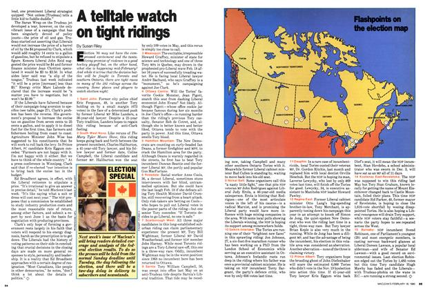 Article Preview: A telltale watch on tight ridings, February 1980 | Maclean's