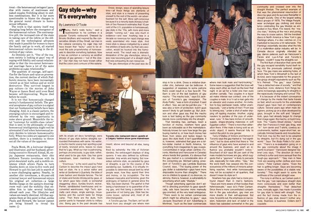 Article Preview: Gay style-why it's everywhere, February 1980 | Maclean's