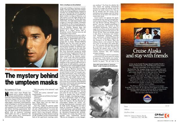Article Preview: The mystery behind the umpteen masks, February 1980 | Maclean's