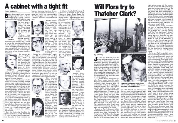 Article Preview: A cabinet with a tight fit, February 1980   Maclean's