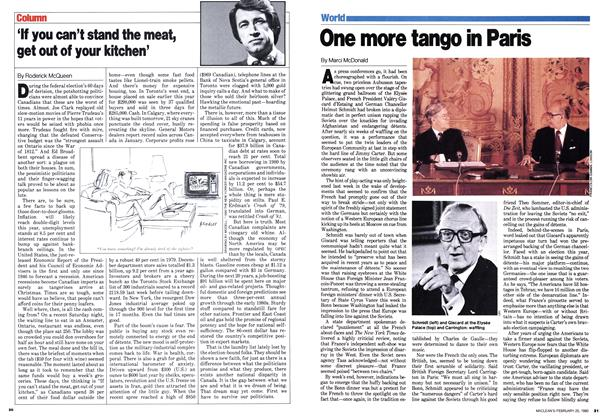 Article Preview: One more tango in Paris, February 1980 | Maclean's