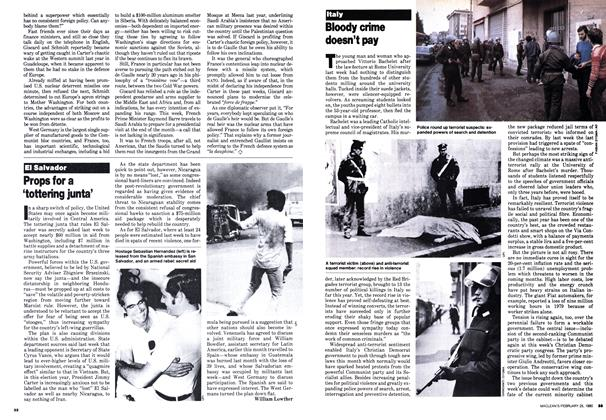 Article Preview: Props for a 'tottering junta', February 1980 | Maclean's