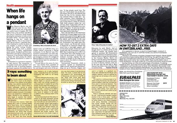 Article Preview: When life hangs on a pendant, February 1980 | Maclean's