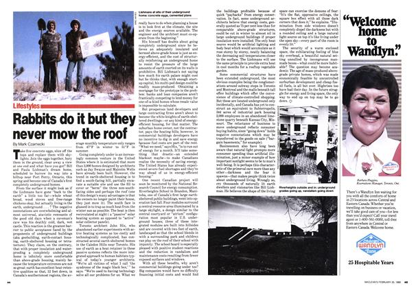 Article Preview: Rabbits do it but they never mow the roof, February 1980 | Maclean's