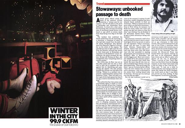 Article Preview: Stowaways: unbooked passage to death, February 1980 | Maclean's