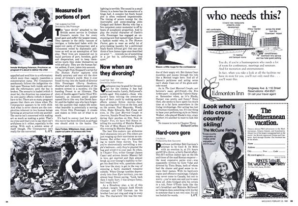 Article Preview: Now when are they divorcing?, February 1980 | Maclean's