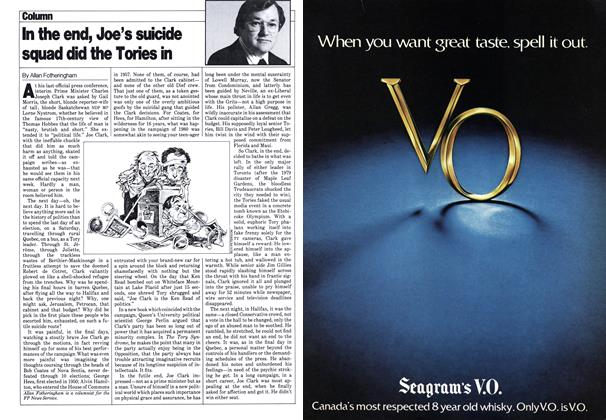 Article Preview: In the end, Joe's suicide squad did the Tories in, February 1980 | Maclean's