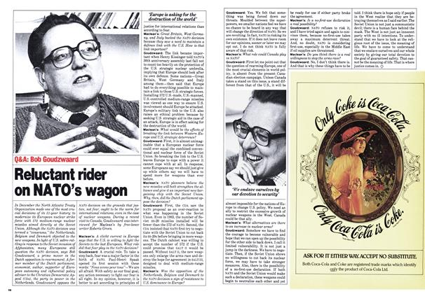 Article Preview: Reluctant rider on NATO's wagon, February 1980   Maclean's