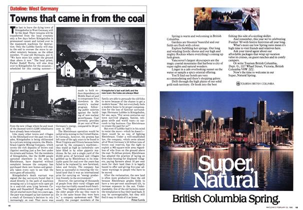 Article Preview: Towns that came in from the coal, February 1980   Maclean's