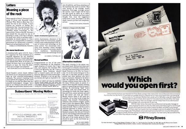 Article Preview: Letters, February 1980 | Maclean's