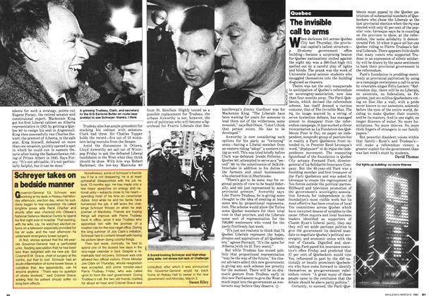 Article Preview: The invisible call to arms, March 1980 | Maclean's