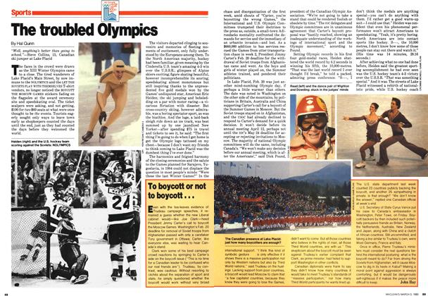 Article Preview: The troubled Olympics, March 1980 | Maclean's