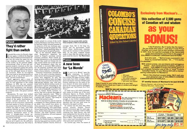 Article Preview: A new boss for 'Le Monde', March 1980 | Maclean's