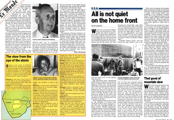 Article Preview: All is not quiet on the home front, March 1980 | Maclean's