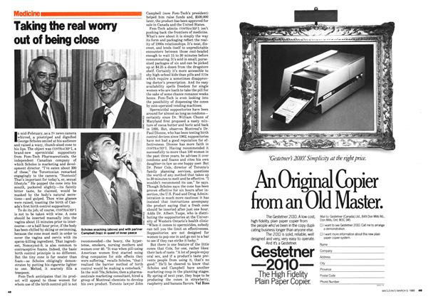 Article Preview: Taking the real worry out of being close, March 1980 | Maclean's