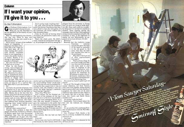 Article Preview: If I want your opinion, I'll give it to you..., March 1980 | Maclean's