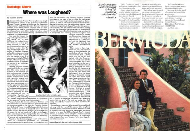 Article Preview: Where was Lougheed?, March 1980 | Maclean's