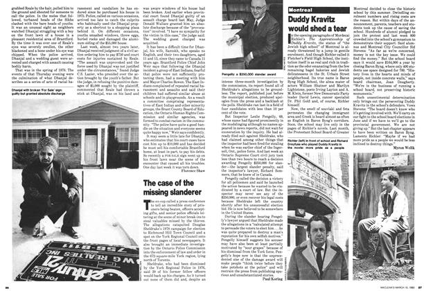 Article Preview: The case of the missing slanderer, March 1980   Maclean's