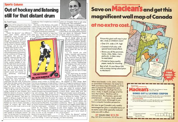 Article Preview: Out of hockey and listening still for that distant drum, March 1980 | Maclean's