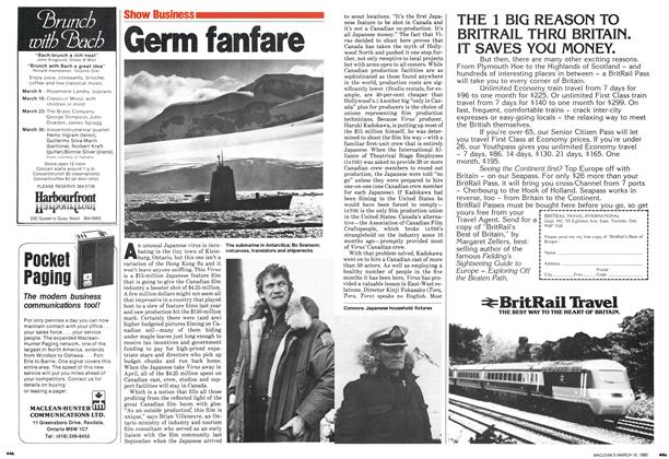 Article Preview: Germ fanfare, March 1980 | Maclean's