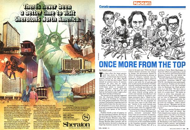 Article Preview: ONCE MORE FROM THE TOP, March 1980 | Maclean's