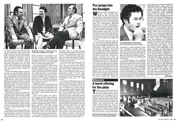 Article Preview: Fox jumps into the limelight, March 1980 | Maclean's