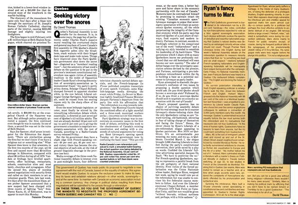 Article Preview: Seeking victory over the snores, March 1980 | Maclean's