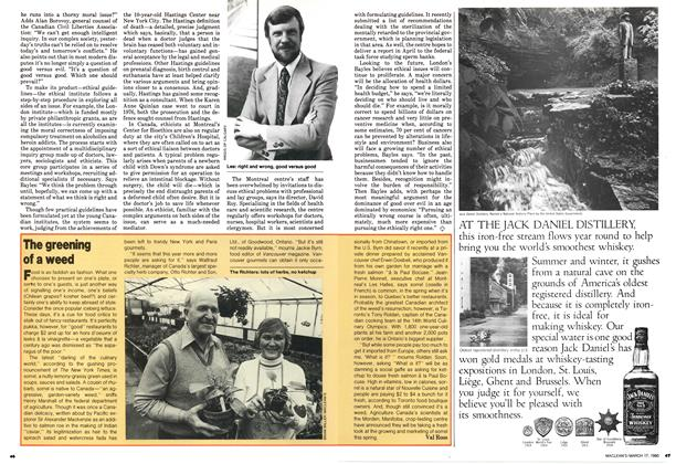 Article Preview: The greening of a weed, March 1980 | Maclean's