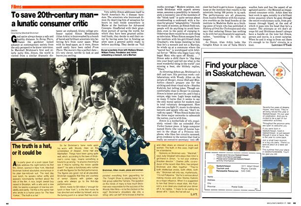 Article Preview: To save 20th-century man— a lunatic consumer critic, March 1980 | Maclean's