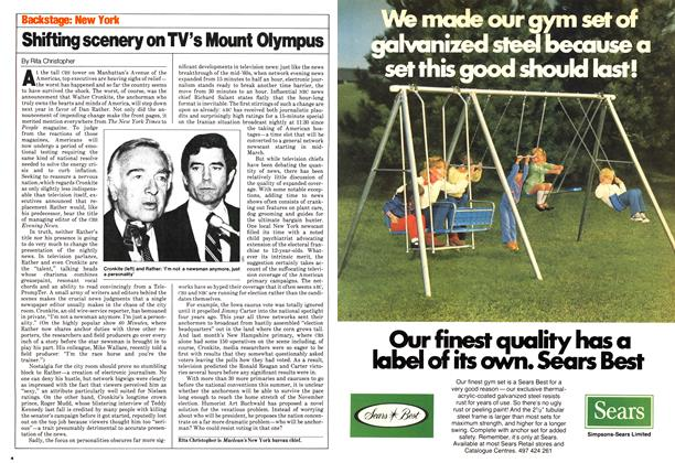 Article Preview: Shifting scenery on TV's Mount Olympus, March 1980 | Maclean's