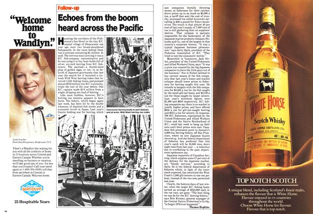 Article Preview: Echoes from the boom heard across the Pacific, March 1980   Maclean's