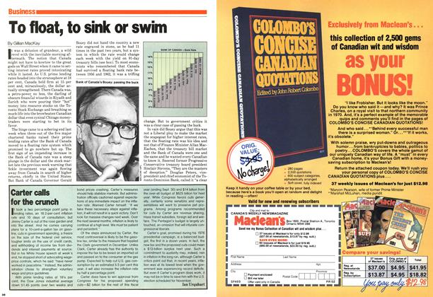 Article Preview: Carter calls for the crunch, March 1980 | Maclean's