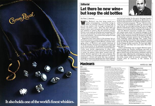 Article Preview: Let there be new winebut keep the old bottles, March 1980   Maclean's