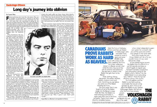 Article Preview: Long day's journey into oblivion, March 1980 | Maclean's