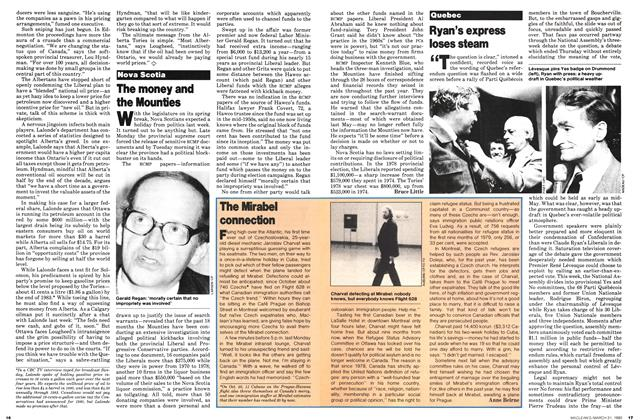 Article Preview: Ryan's express loses steam, March 1980 | Maclean's