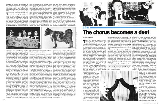 Article Preview: The chorus becomes a duet, March 1980 | Maclean's