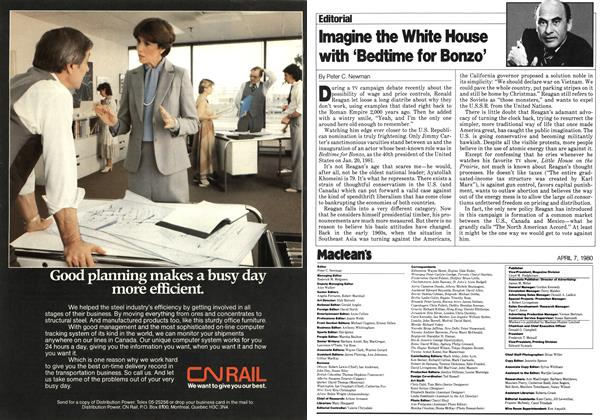 Article Preview: Imagine the White House with 'Bedtime for Bonzo', April 1980 | Maclean's
