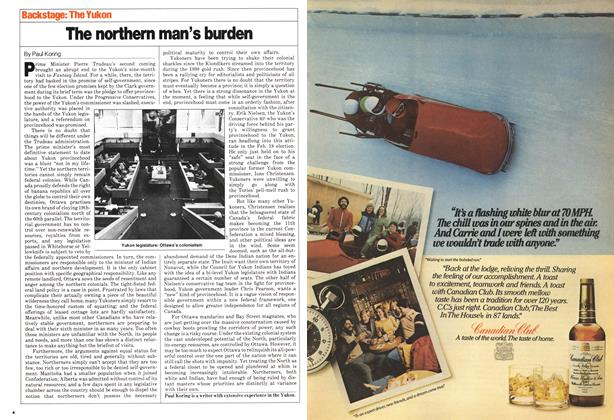 Article Preview: The northern man's burden, April 1980 | Maclean's