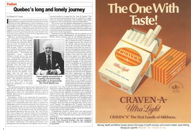 Article Preview: Quebec's long and lonely journey, April 1980 | Maclean's
