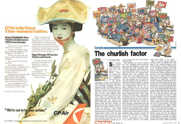 Article Preview: The churlish factor, April 1980 | Maclean's