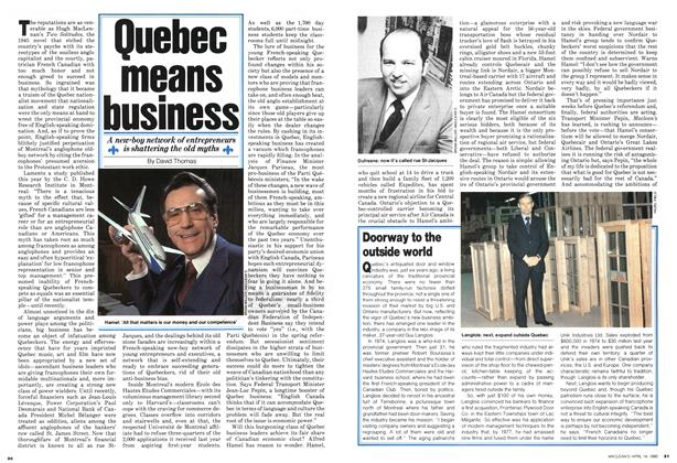 Article Preview: Quebec means business, April 1980 | Maclean's